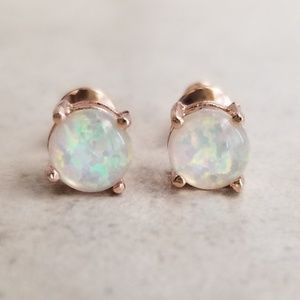 Jewelry - 6mm Rose Gold Opal Studs